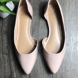 A new day - D'Orsay Blush Patent Flat